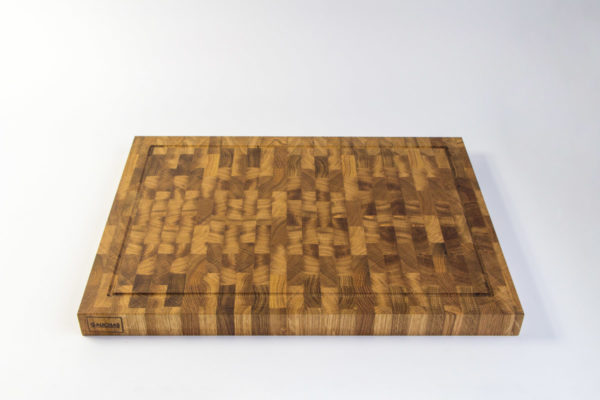 Gauchas Large End Grain Cutting Board with a juice groove top bottom 2