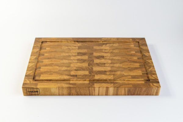 Gauchas End Grain Cutting Board with a juice groove top bottom 2