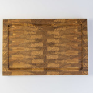 End Grain Cutting Board (*with a juice groove)