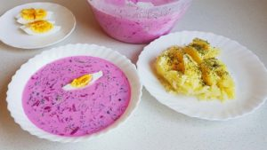 Lithuanian Cold Beet Soup
