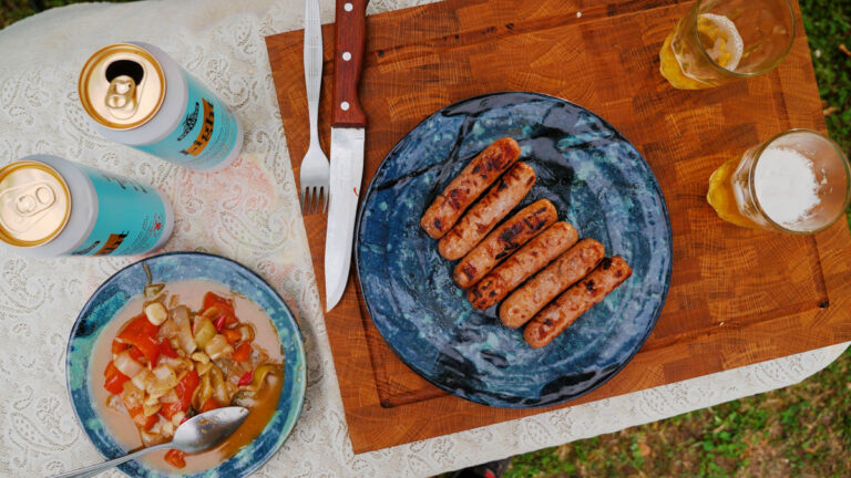 Sausages Grilled with Beer